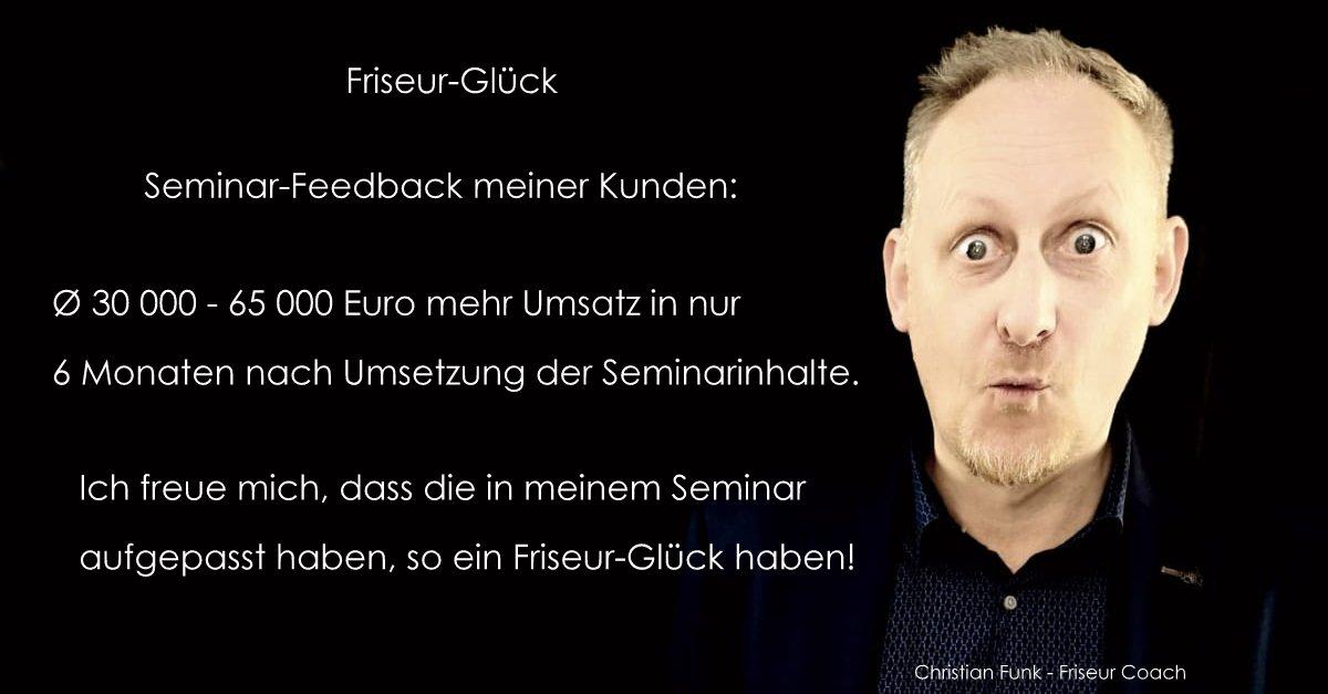 Friseur Coach - Christian Funk - Anmeldung - Aussage-Feddback