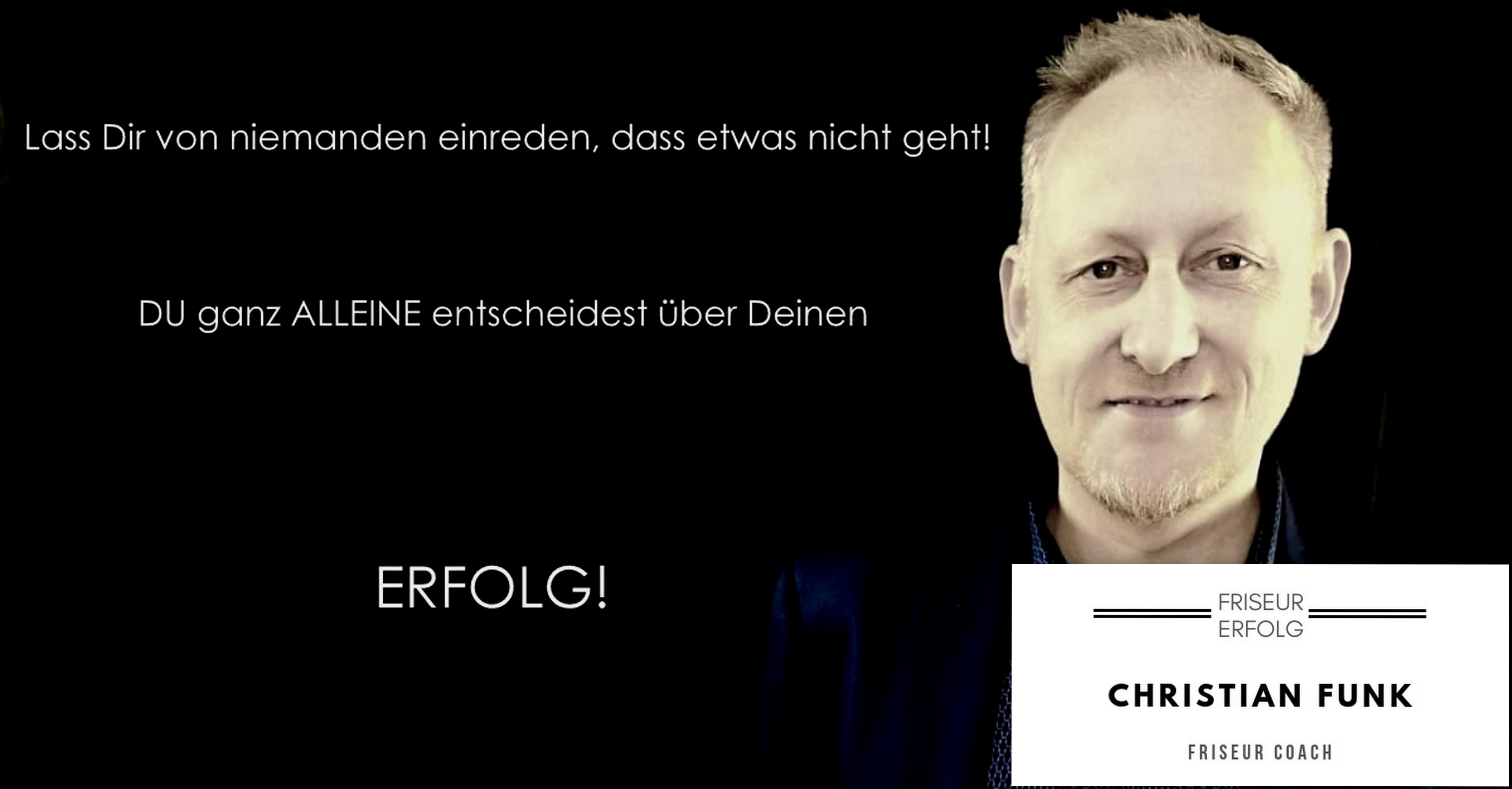 Friseur Coach - Christian Funk -Erfolg - Zitat -Logo1